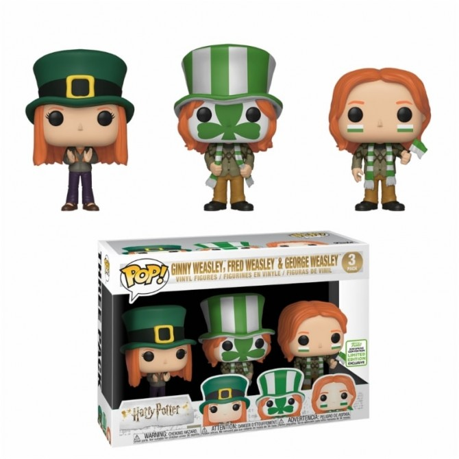 Funko Pop! Movies: Harry Potter - Fred, George & Ginny ECCC
