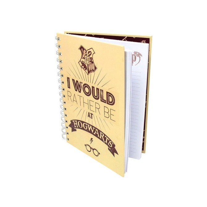 Harry Potter - I Would Rather Be at Hogwarts A5 notebook