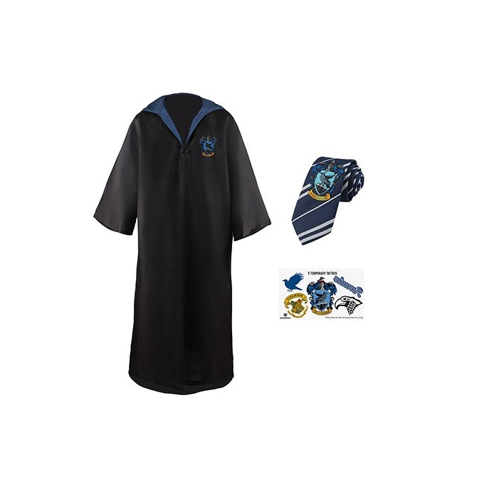 Harry Potter: Raveclaw Robe, Necktie & Tattoo Set