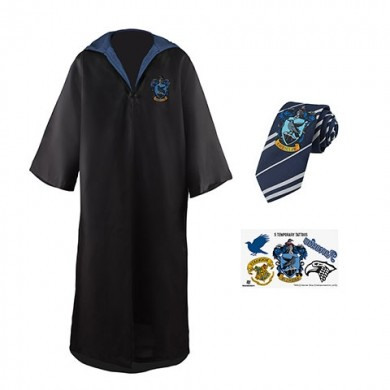 Harry Potter: Raveclaw Robe, Necktie & Tattoo Set