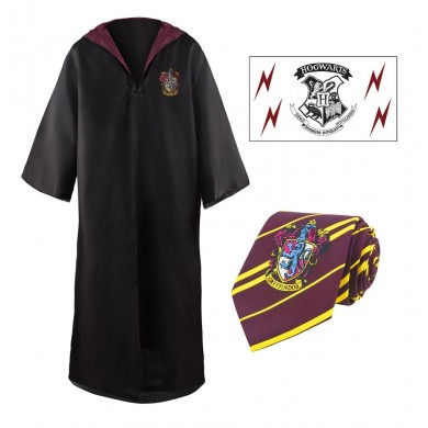 Harry Potter: Gryffindor Robe, Necktie & Tattoo Set