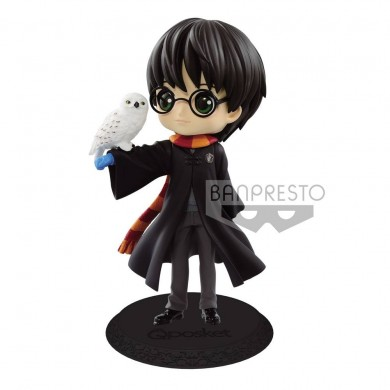 Harry Potter: Q Posket - Harry Potter with Hedwig Mini Figure